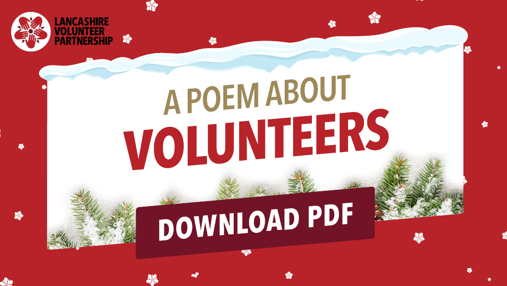 A poem about volunteers graphic