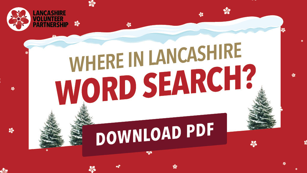 Where in Lancashire word search graphic