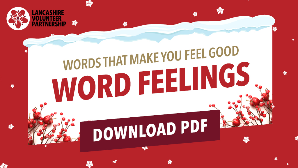 Words that make you feel good - word feelings graphic